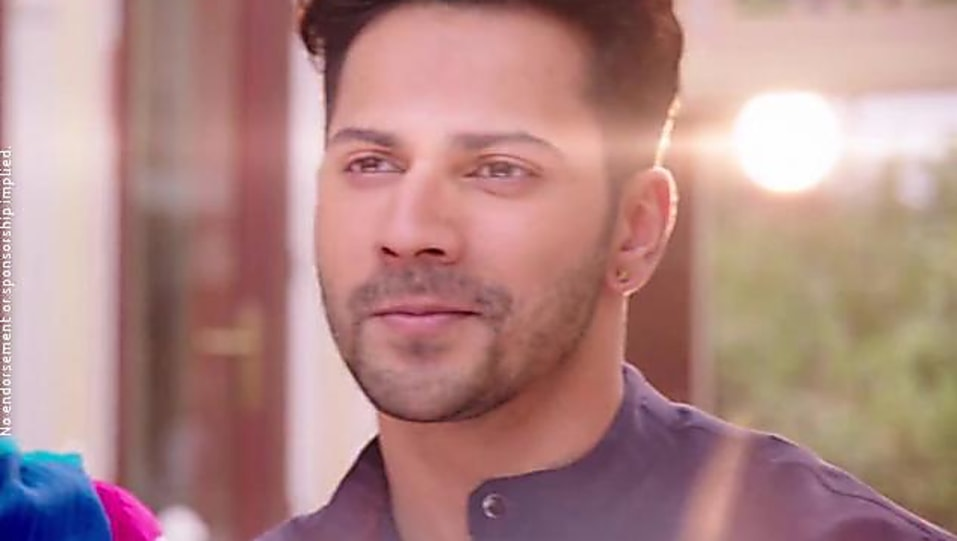 Varun Dhawan Gold Stud Matching With Look From Official Trailer