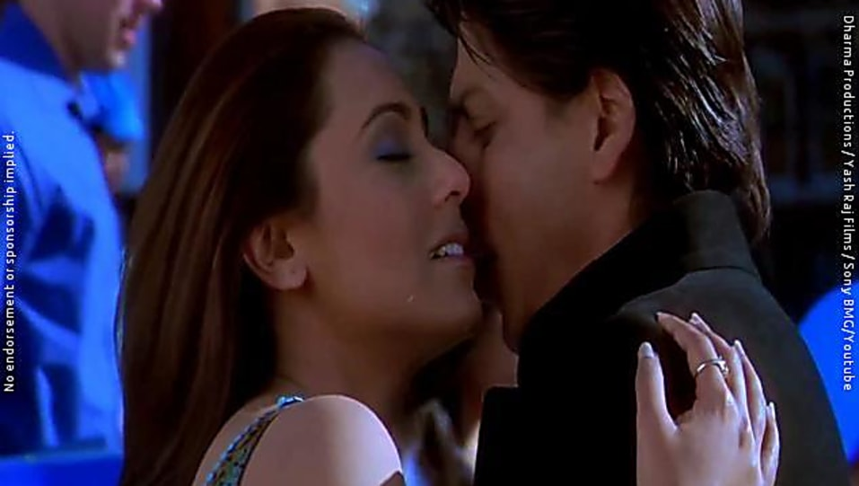 Rani mukherjee kissing scenes