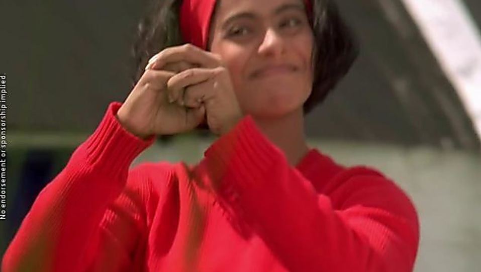 Kajol Red Sweaters And Black Jeans Look Kuch Kuch Hota Hai Style