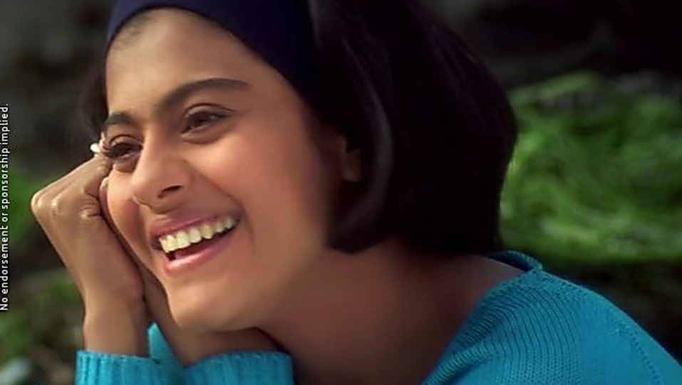 Kajol Blue Sweaters And White Jeans Look Kuch Kuch Hota Hai Style