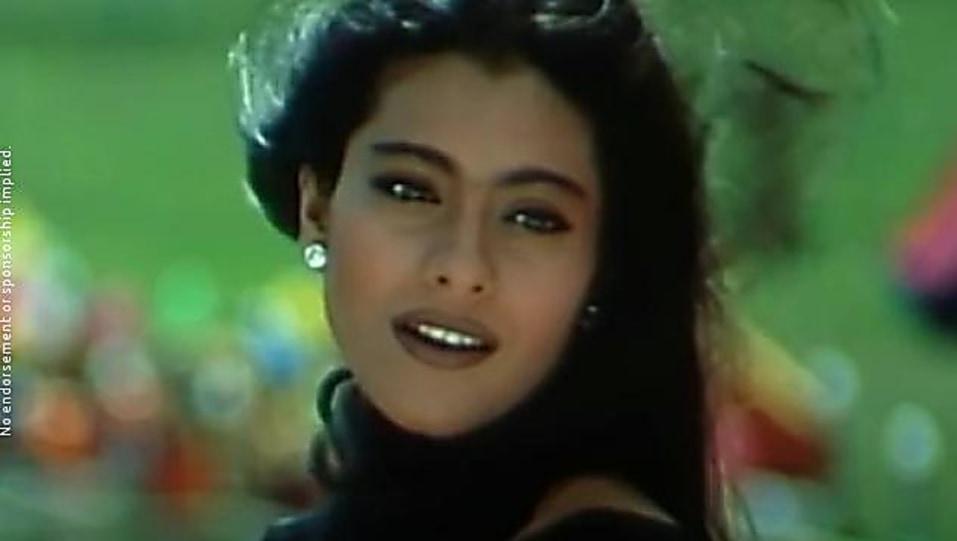 Kajol Black Saree Look Ladki Badi Anjani Hai Style Kuch Kuch Hota